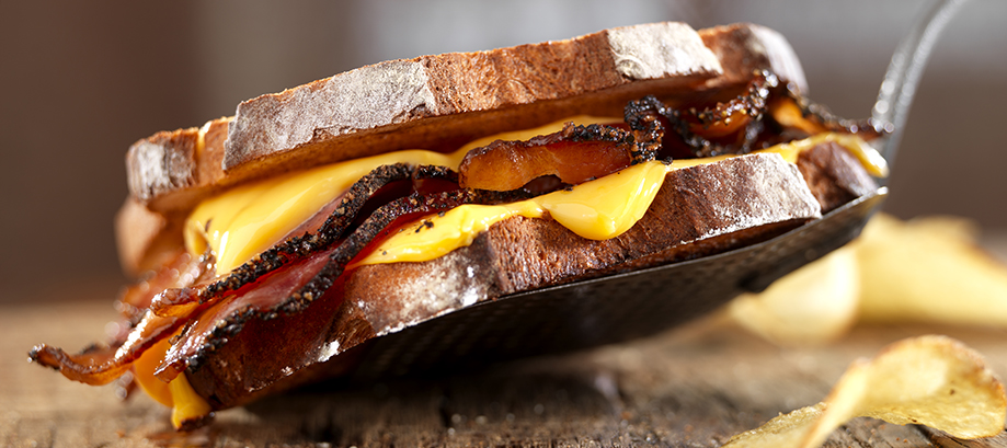 Nueske's Pepper-Coated Bacon Grilled Cheese Sandwich